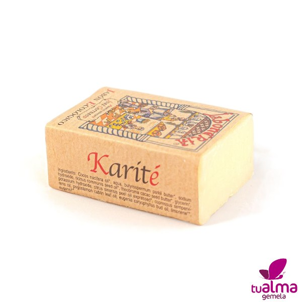 jabon natural vegano karite