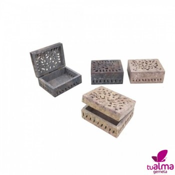 caja tallada piedra jabon