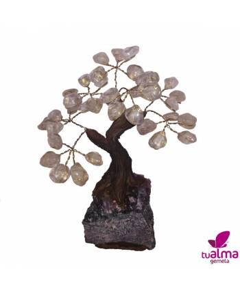 Árbol de la abundancia cuarzo blanco