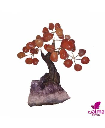 Árbol de la abundancia cuarzo rojo