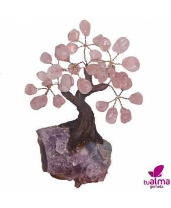 Árbol de la abundancia cuarzo rosa