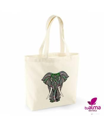 bolsa tela reutilizable elefante mandala
