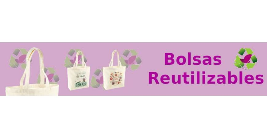 Bolsas reutilizables algodón ecológico